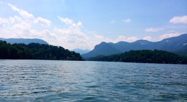 Mountain View from Lake Lure Boat Tours