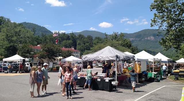 Lake lure Arts & Crafts Festival Scenic View