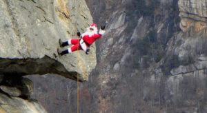 Santa on Chimney Rock