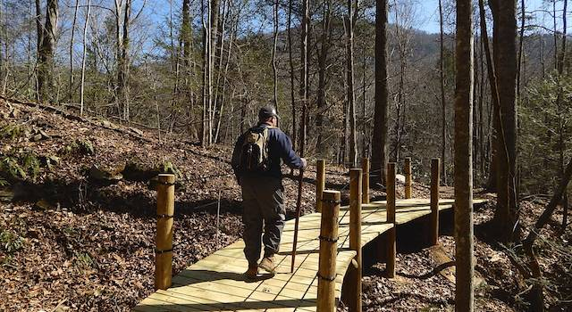 Bridge at Buffalo Creek Multi-Use Park - Hikes Around Lake Lure NC