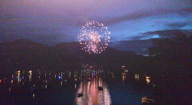 Fireworks Over Lake Lure