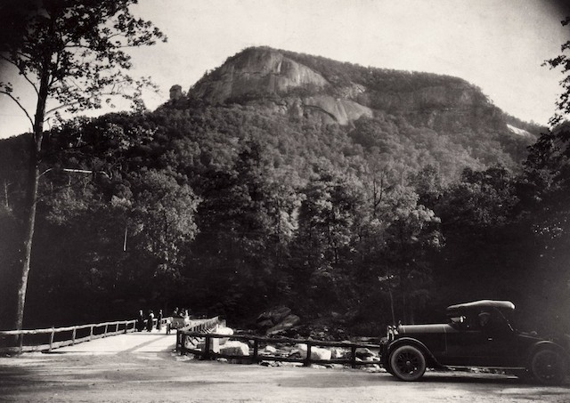 View of Chimney Rock from Village