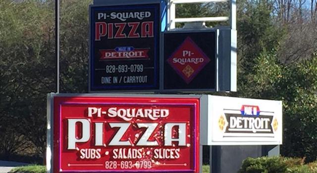 Pi-Squared Pizza Signage