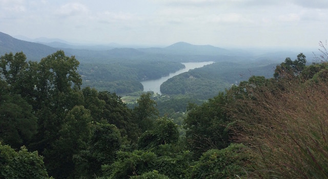 Lake Lure Seen from Chimney Rock Park