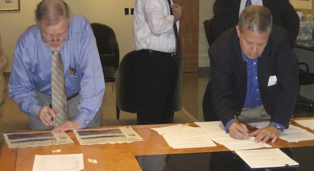 Morse Family signs the deal for the Park's sale