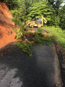 Mudslides Caused by Heavy Rains