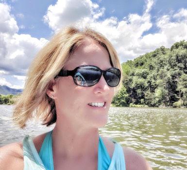 Lisa Kayaking on Lake Lure