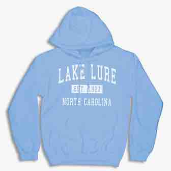 Lake Lure Hoodie Carolina Blue